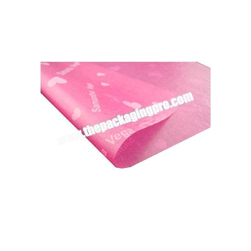Cheap custom logo printed facial tissue paper