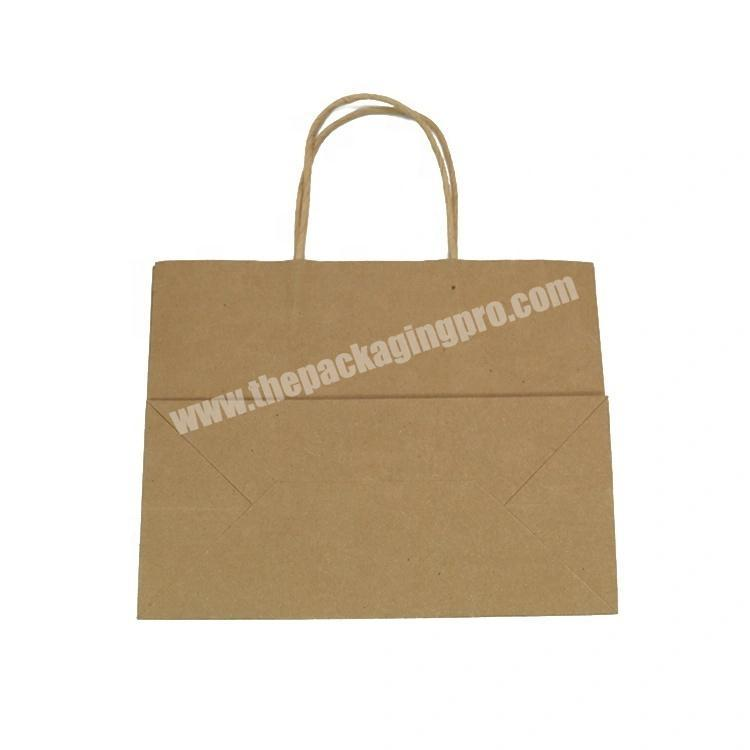 Cheap Fashion Brown Customized Kraft Paper Bag With Wisted Handle For Clothing