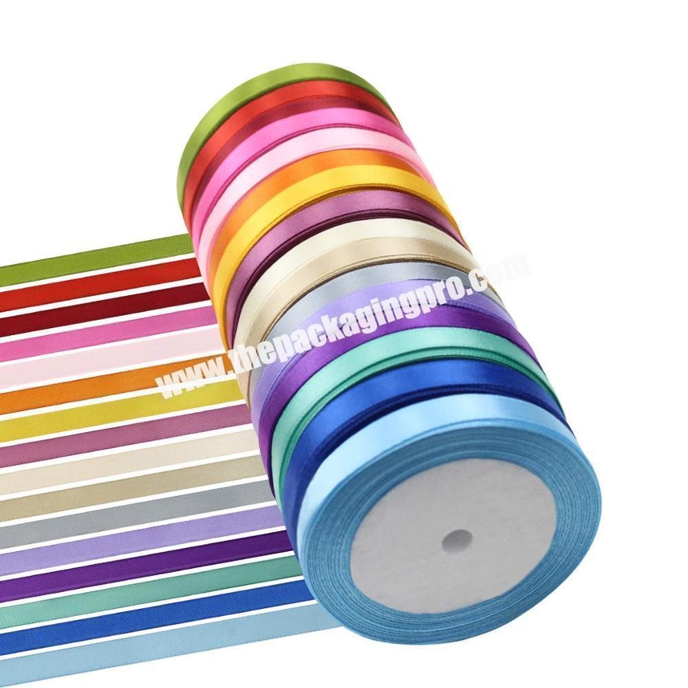 cheap high quality  double and single  face 100% polyester  colorful satin ribbon for all kind of occasion