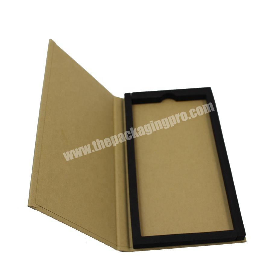 Cheap Kraft Mobile Phone Screen Protector Film Packaging box Custom Printing Tempered glass packing box for iphoneipad