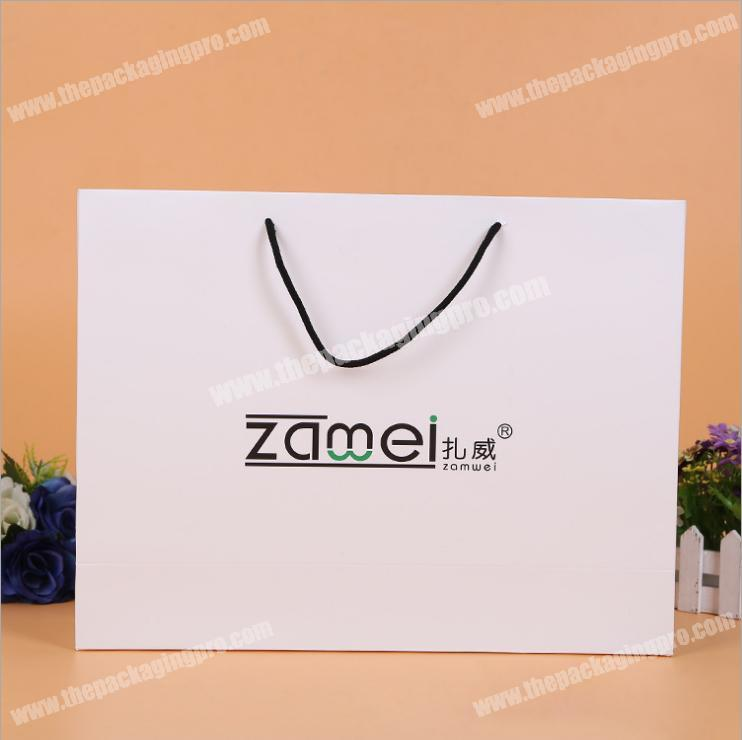 cheap shopping custom printed paper bags with your own Logo
