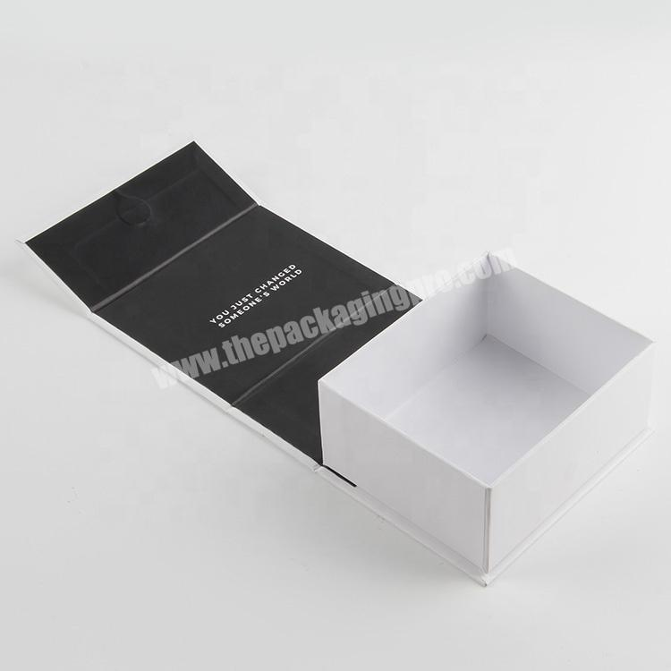 Factory china a4 dimensions  luxury cosmetic packaging magnet clamshell paper box oem wholesale