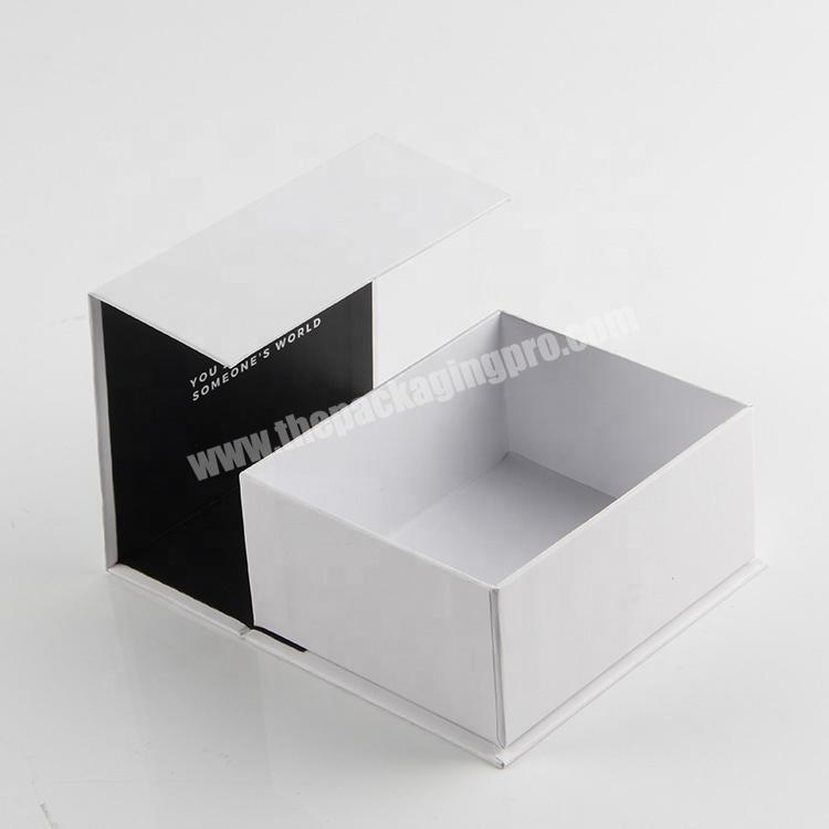 Shop china a4 dimensions  luxury cosmetic packaging magnet clamshell paper box oem wholesale