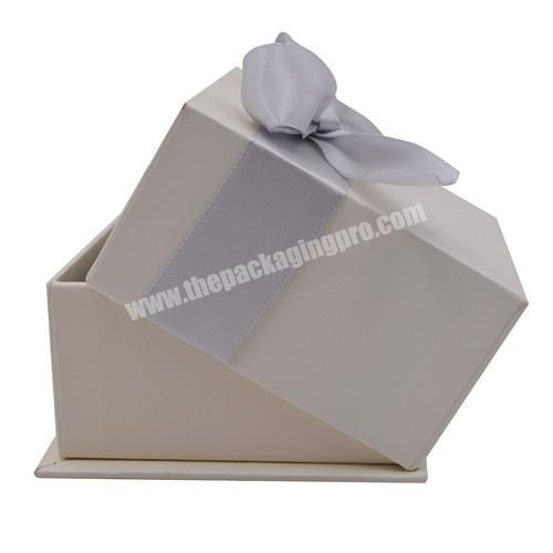 China Custom Logo For Box Rings, Necklace Earrings, Bracelets Luxury Packaging With Bow-tied Birthday Gift Boxes