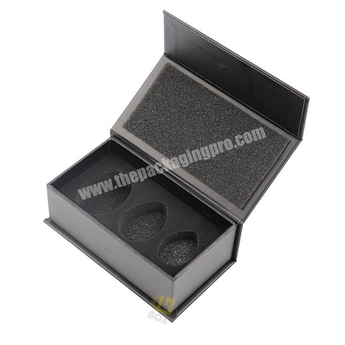 China Factory Professional Factory Design Fancy Paper  Custom Black Magnetic Closure Makeup Egg Paper Box With Foam