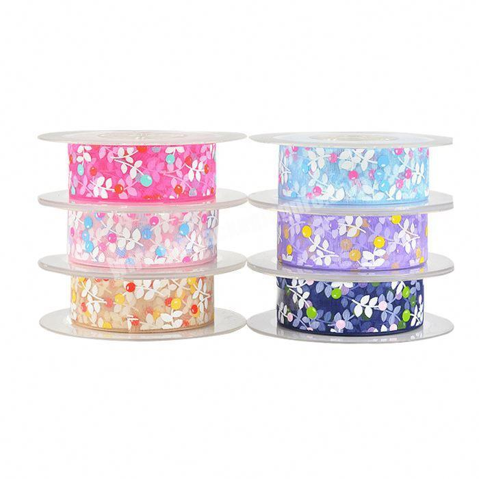 China factory wholesale custom printed organza ribbon