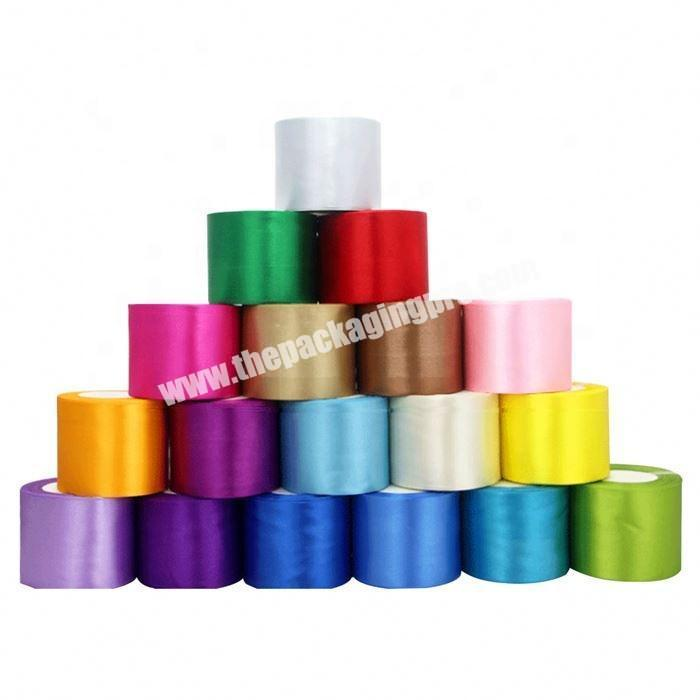 Custom China factory wholesale polyester 5 inch satin ribbon flowers for gift packing