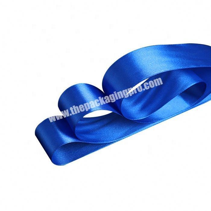 Manufacturer China factory wholesale polyester 5 inch satin ribbon flowers for gift packing