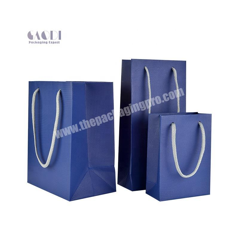 China Manufacturer Personalized Customized Spot Color High Quality Jewelry Packing Paper Gift Bag With Handles