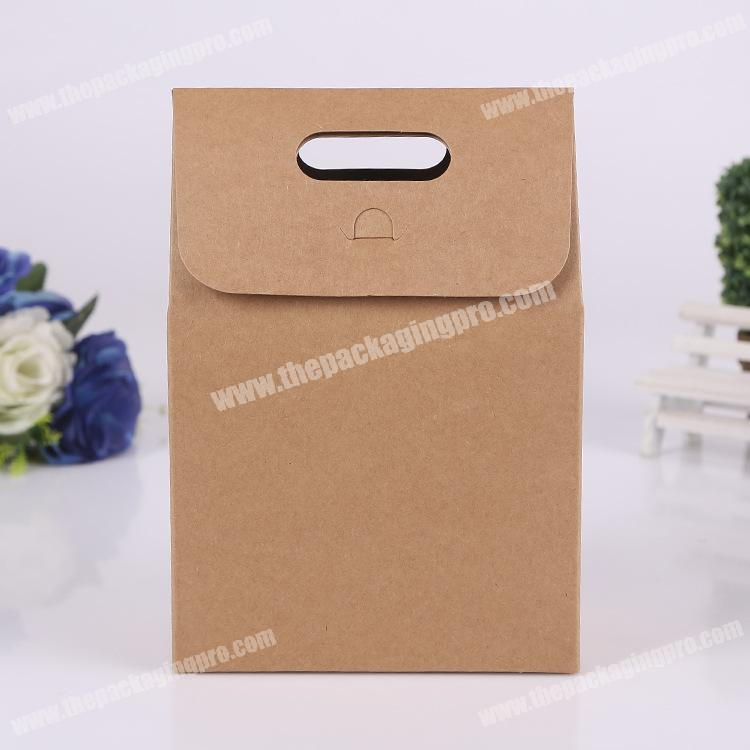 China supplier cheapest wholesale shopping gift die cut handles brown kraft packing bag