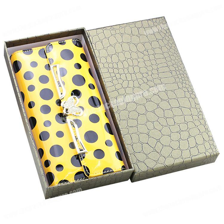 China Supplier Leatherette Paper Luxury Men's Wallets Storage Gift Box