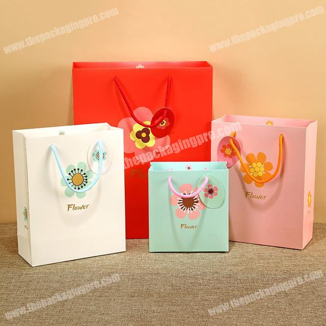 China supplier new sunflower hand gift paper bag