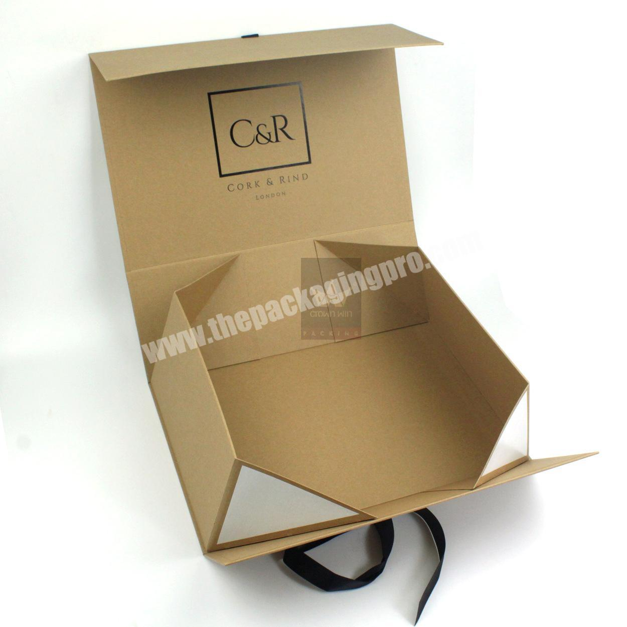 Custom China Supplier Specialty Corrugated Paper Luxury Flat Pack Boxes Hat Clothes Logo Packing Gift Box