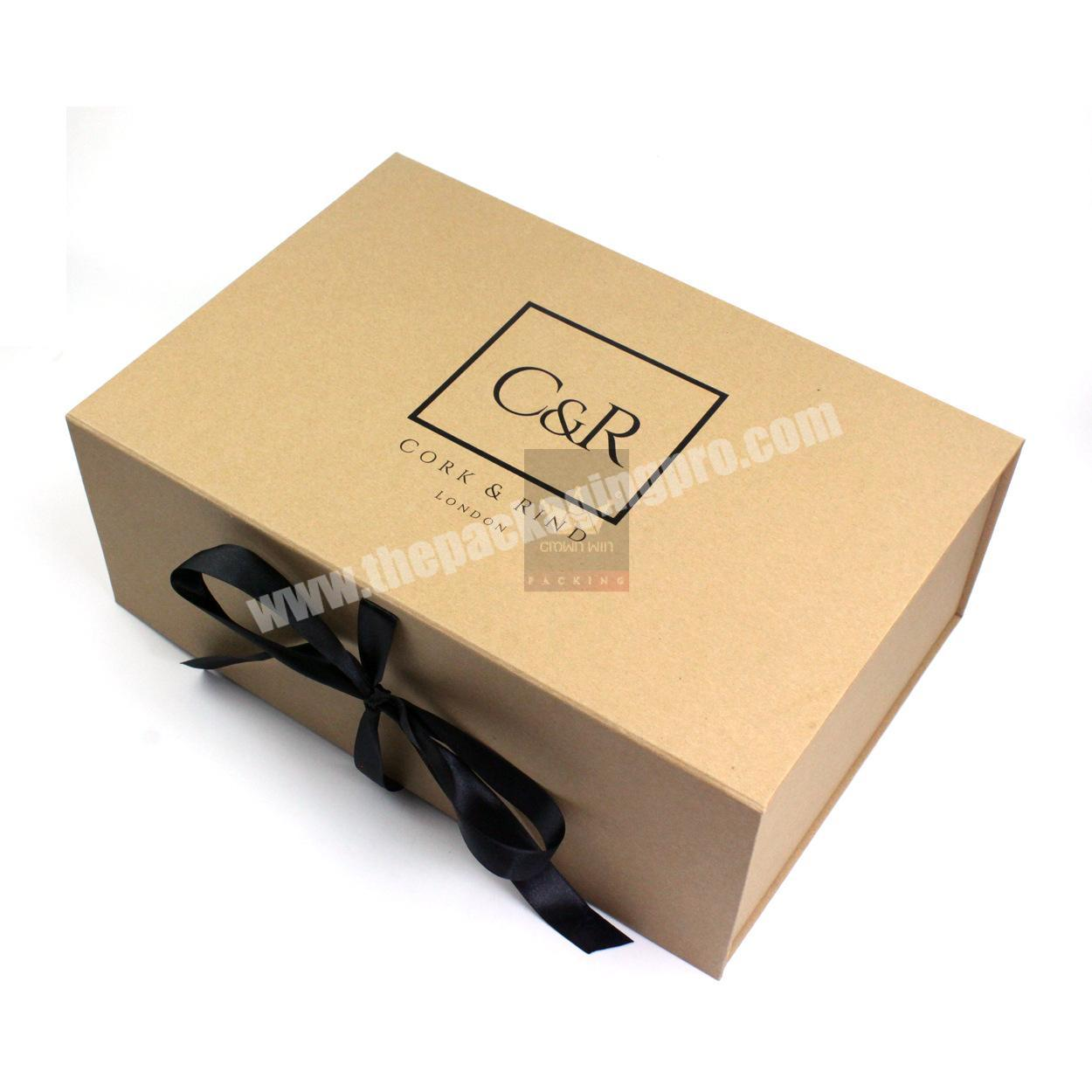 Supplier China Supplier Specialty Corrugated Paper Luxury Flat Pack Boxes Hat Clothes Logo Packing Gift Box