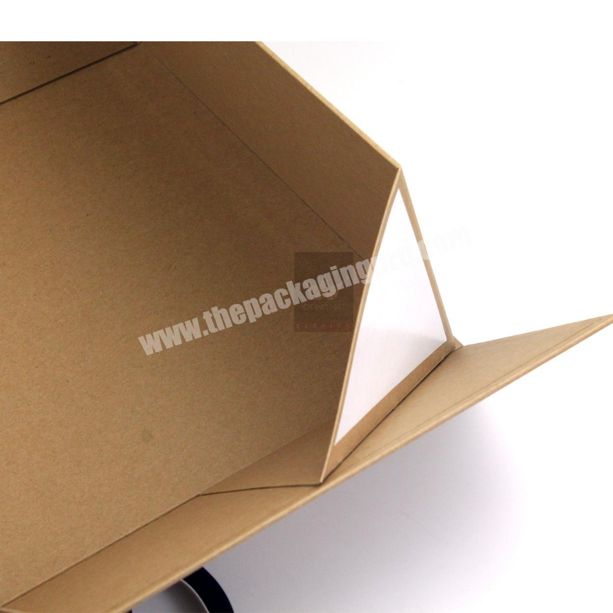 Factory China Supplier Specialty Corrugated Paper Luxury Flat Pack Boxes Hat Clothes Logo Packing Gift Box