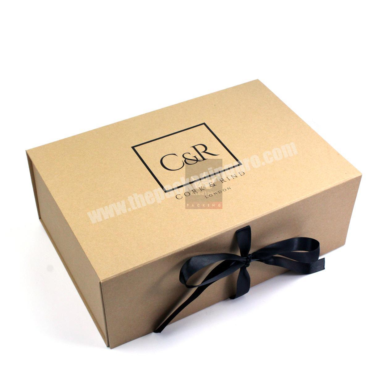 Wholesale China Supplier Specialty Corrugated Paper Luxury Flat Pack Boxes Hat Clothes Logo Packing Gift Box