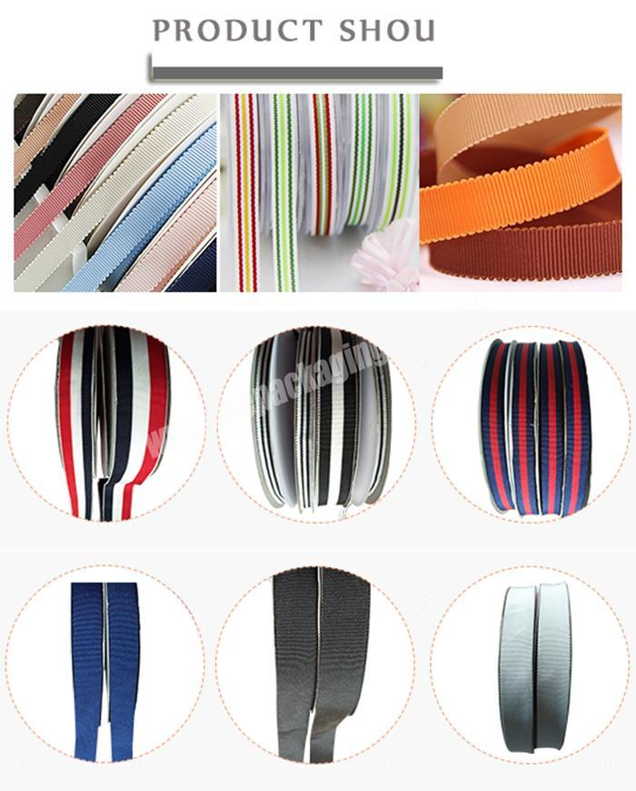 Shop chinese handmade  wholesale  handmade all size grosgrain ribbon for all packing occasion