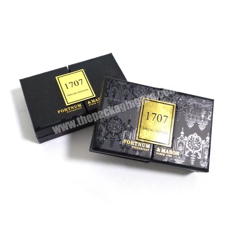 Manufacturer Chinese professional custom make middle open perfume box packaging