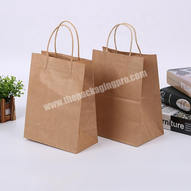 Chinese supplier wholesale brown kraft paper bag for bread