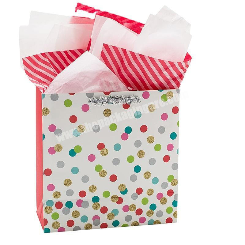 Christmas Art Paper Gift Bags for Packaging