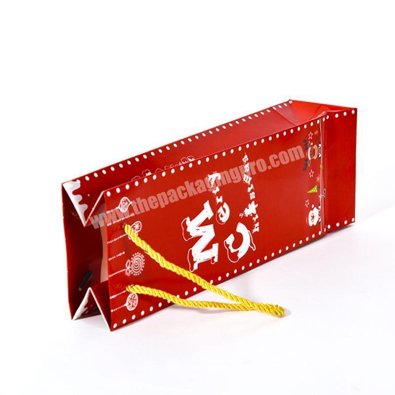 christmas brown kraft paper bag with handle
