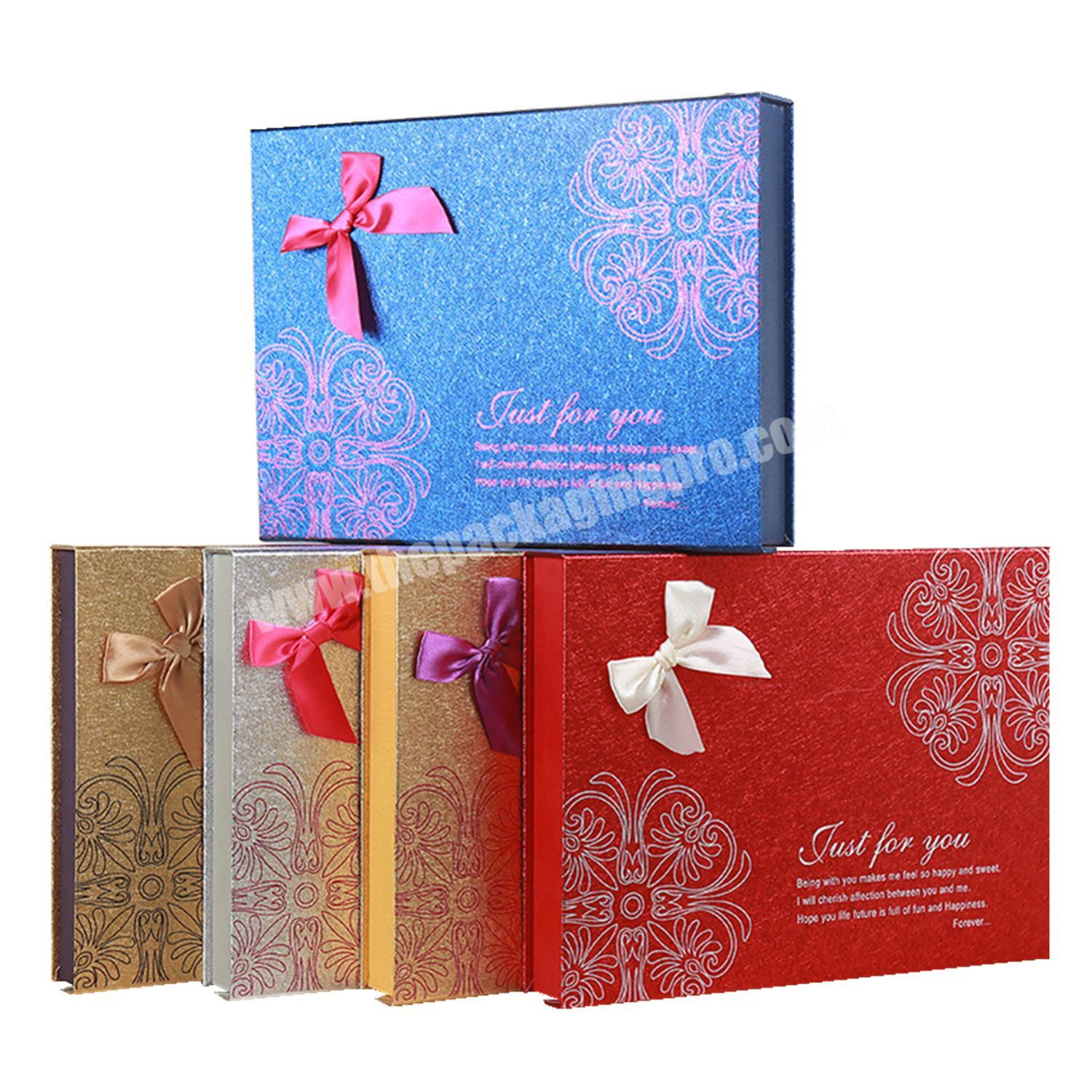 Christmas wedding favor gold stamping cardboard sweets chocolate gift packaging candy ribbon boxes