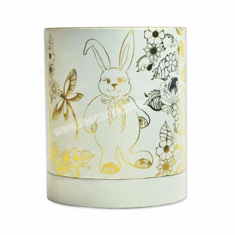 Circular Column Gold Stamping Animal pattern perfume gift box
