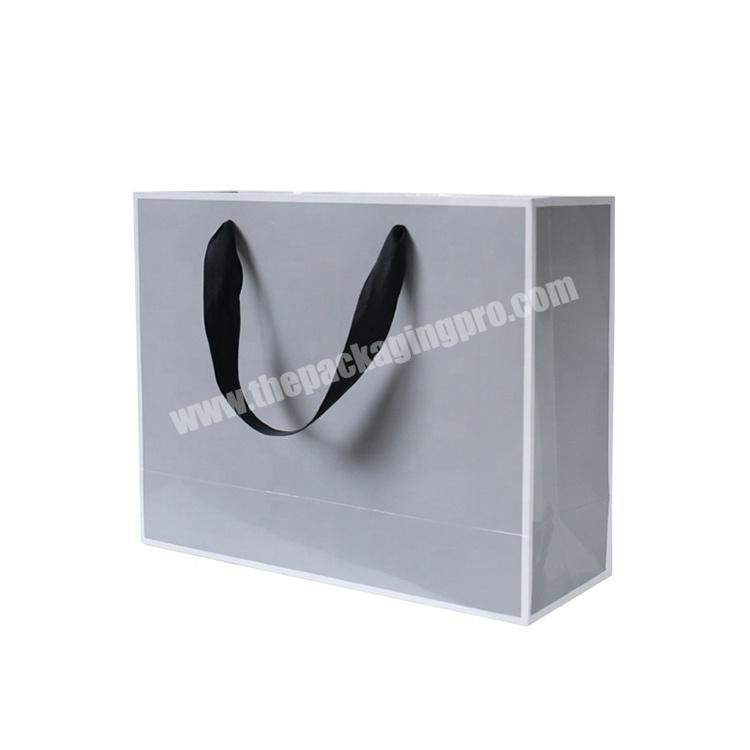 Clothing Garment Packaging Paper Bags String Handle For Clothes