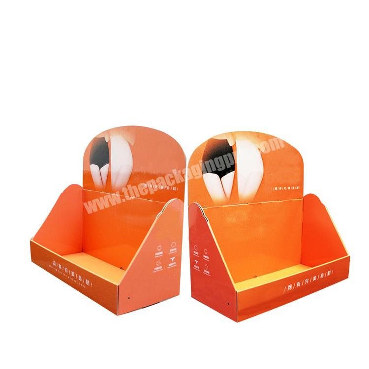 collapsable corrugated box cardboard display table paperboard counter display rack