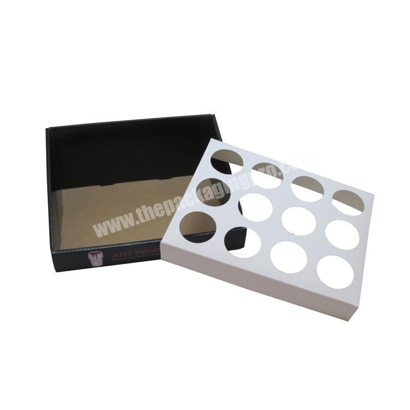 collapsable corrugated box shipping boxes custom logo cardboard counter display rack