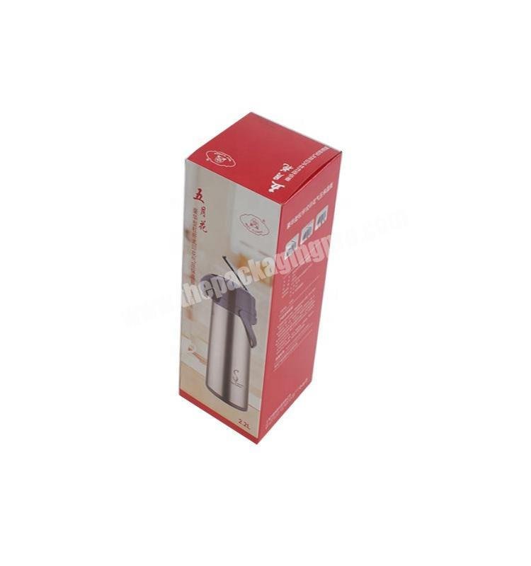 Corrugated cardboard kettle packaging box mixed color printing