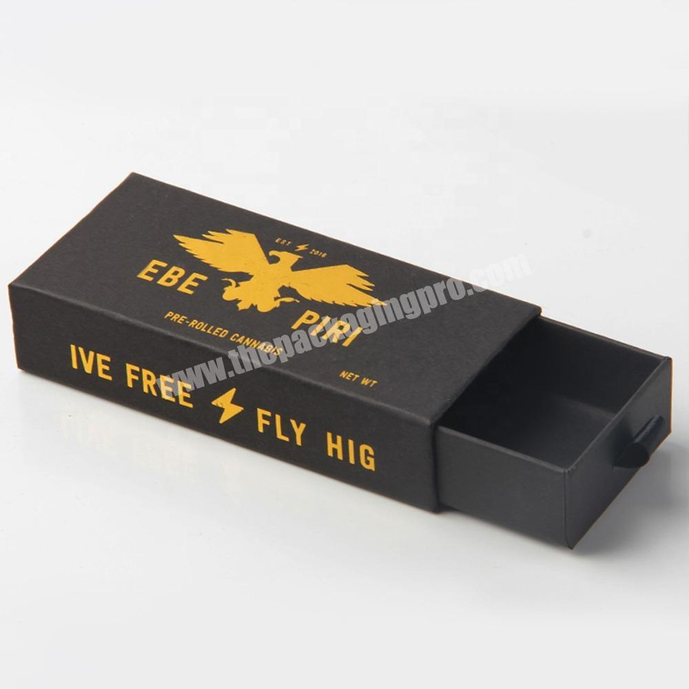 cosmetic sample packaging drawer style black eyelash packaging box