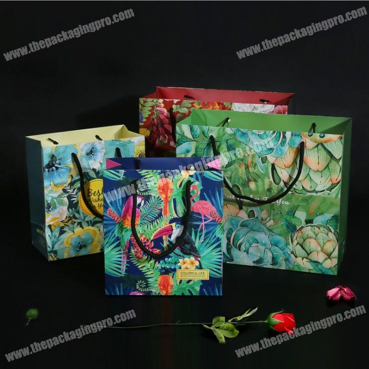 Creative Birthday Gift Bag Plant Portable Paper Custom Made Printed Stylish Clothing Wholesale