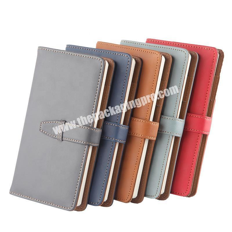 Custom 2021 B5 A5 A6 Hardcover Executive Notebooks PU Leather School Office Stationery Journals Blank 365 Pocket Diary Notebook