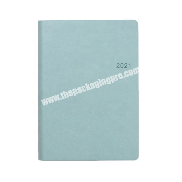 Custom 2021 Hot Sale Kawaii Diary For Girls Stationary Soft Leather Cover Journal A5 School Supplies Printing 365 Diary Notebook
