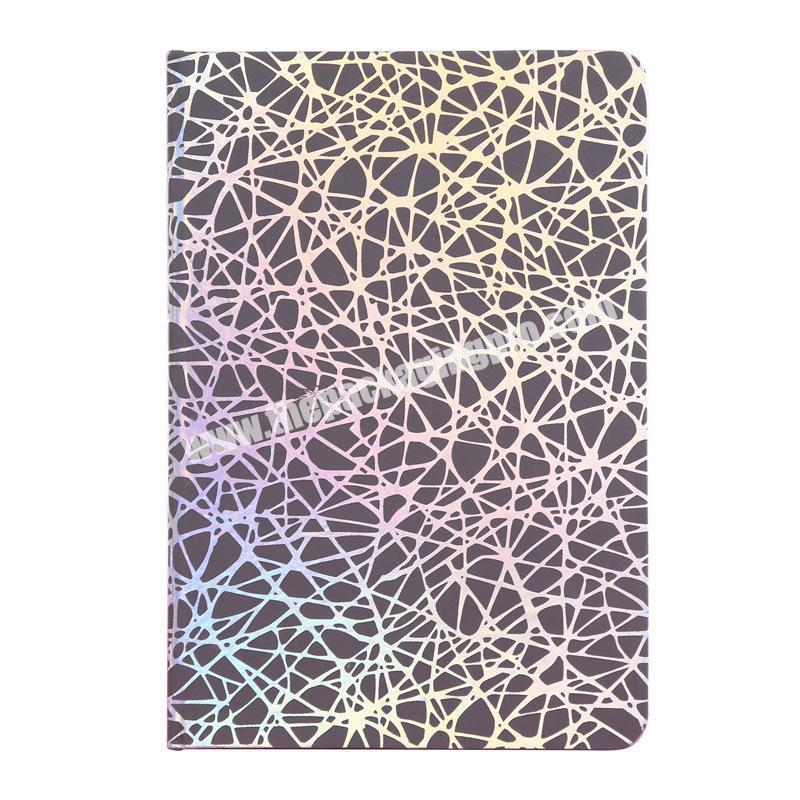 Custom A5 A6 Cheap Student Exercise Notebooks Colorful Refraction Cloth Cover Diary Planner Black Stationary Starry  Notebook