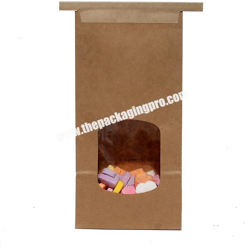 Custom Bakery Food Packaging Brown Craft Kraft Paper Bags
