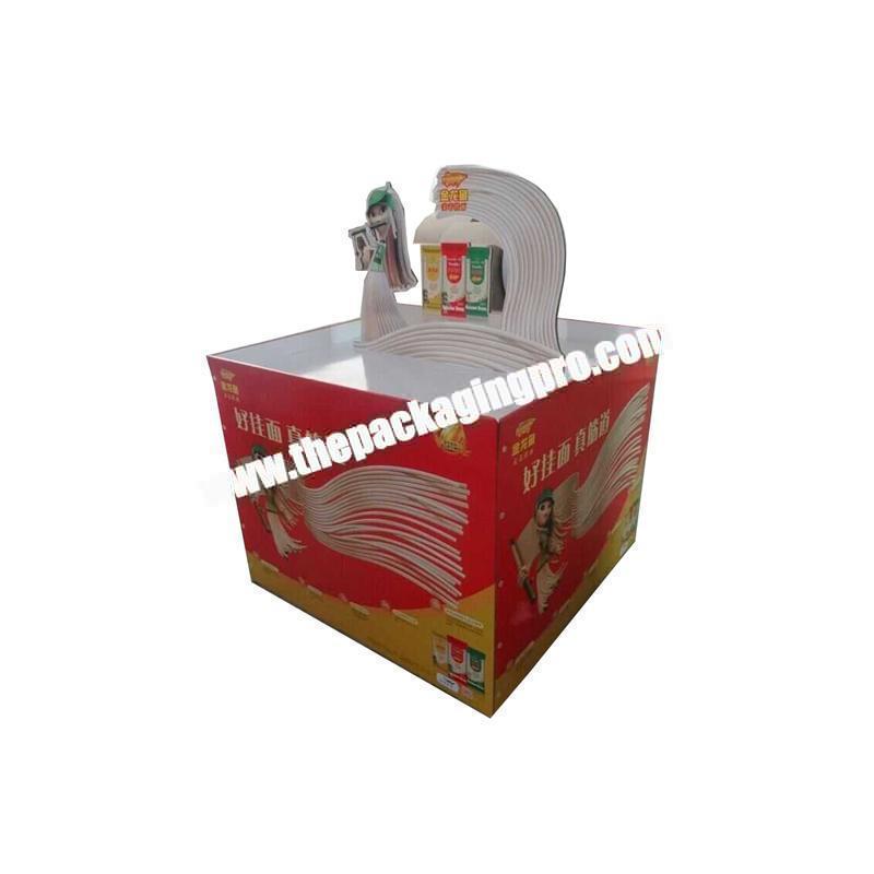 Custom bamboo paper biodegradable display shelf round