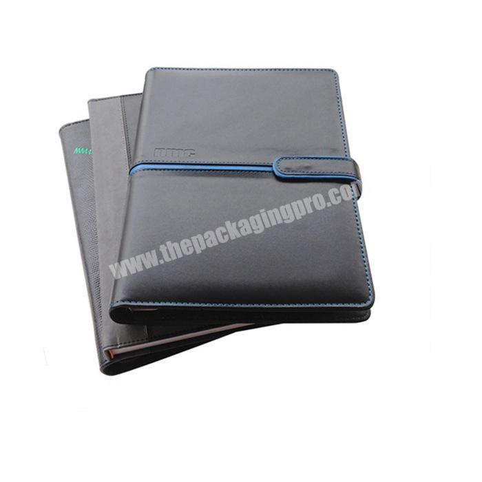 Custom black a5 a6 notebook planner journal agenda cover printing with logo