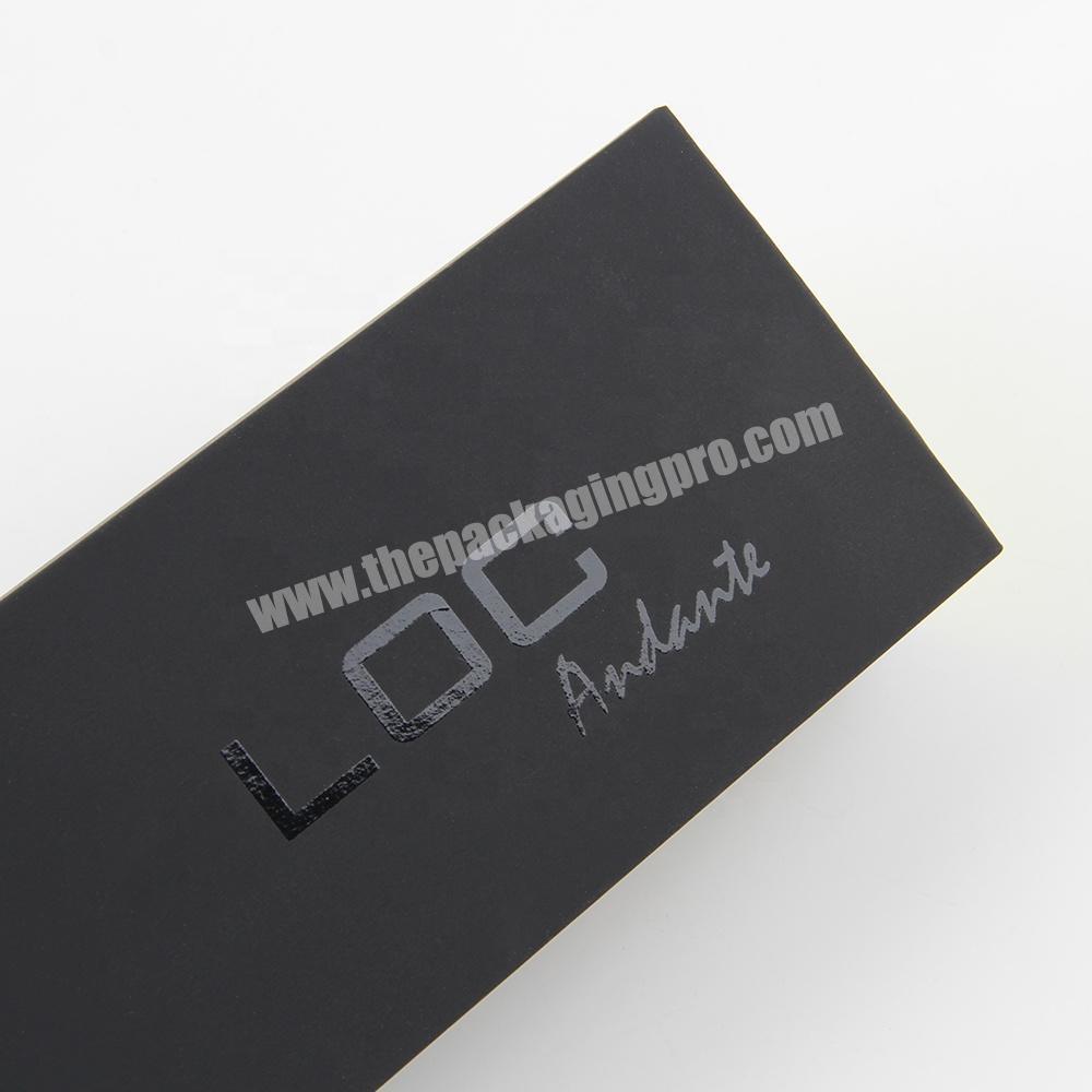 Supplier custom black empty cardboard packaging eyelash drawer box