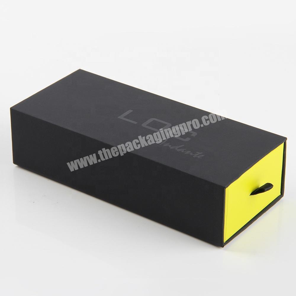 Shop custom black empty cardboard packaging eyelash drawer box