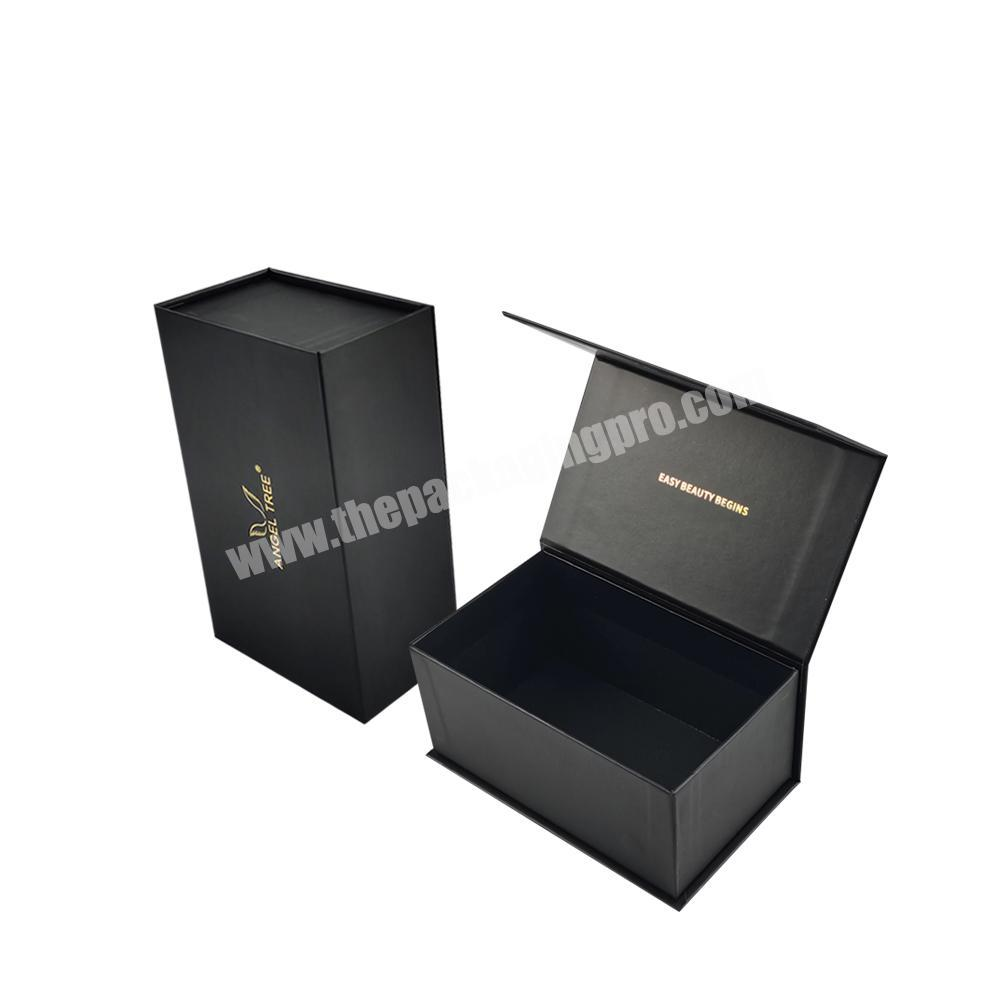 custom black matte lamination magnetic closure cardboard perfume box paper packaging box for candle