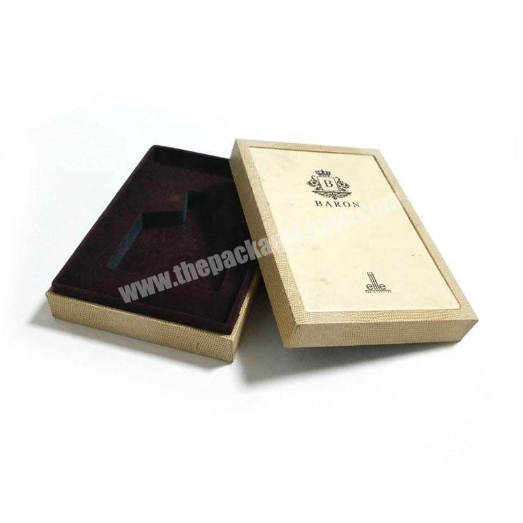 Custom branded perfume sample display box packaging luxury with sponge insert