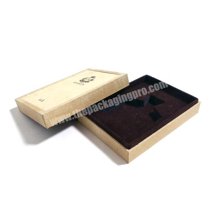 Factory Custom branded perfume sample display box packaging luxury with sponge insert