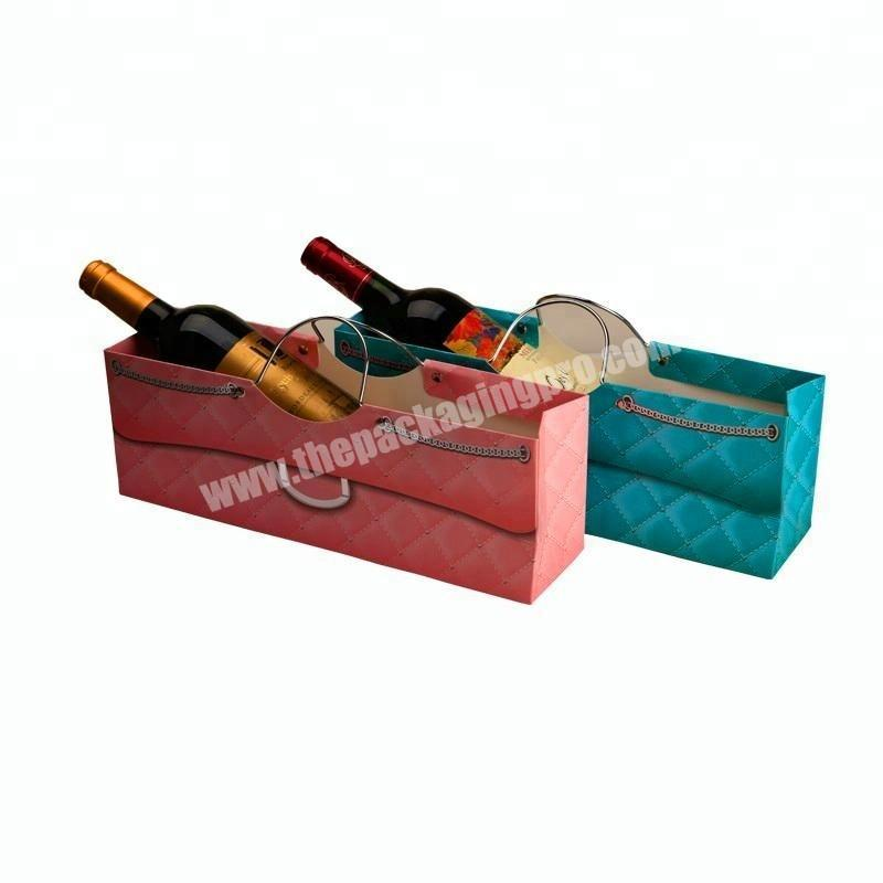 Custom candy cookie wine bottle shopping paper bag PP rope eco friendly