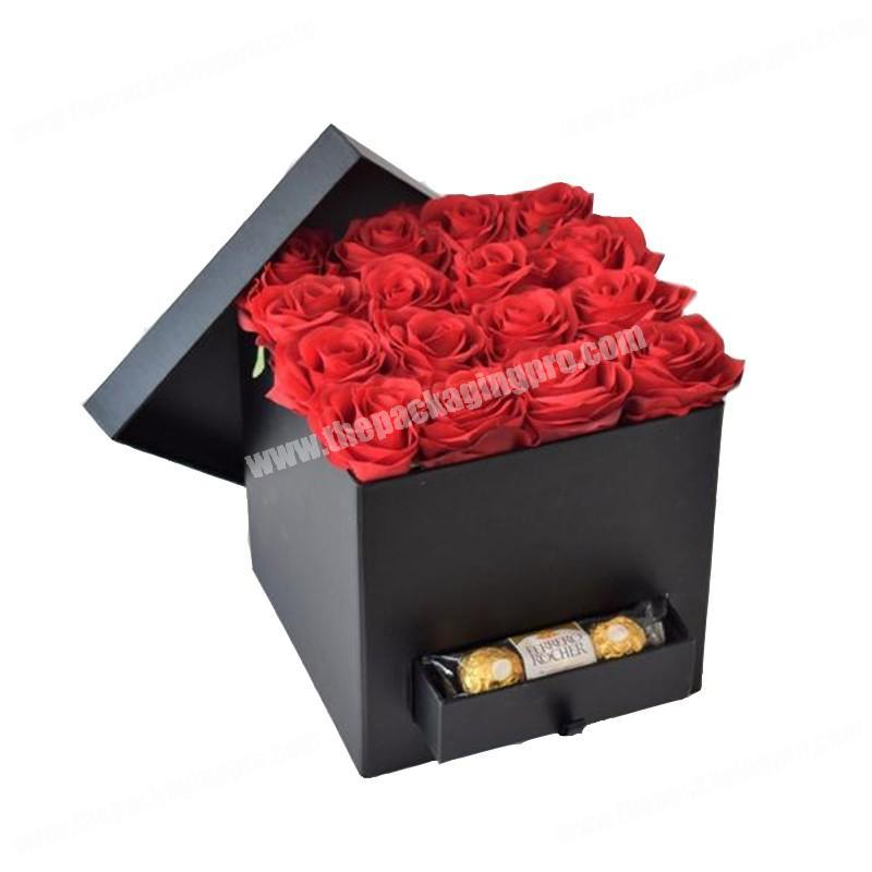 Custom cardboard packing products square flower gift box