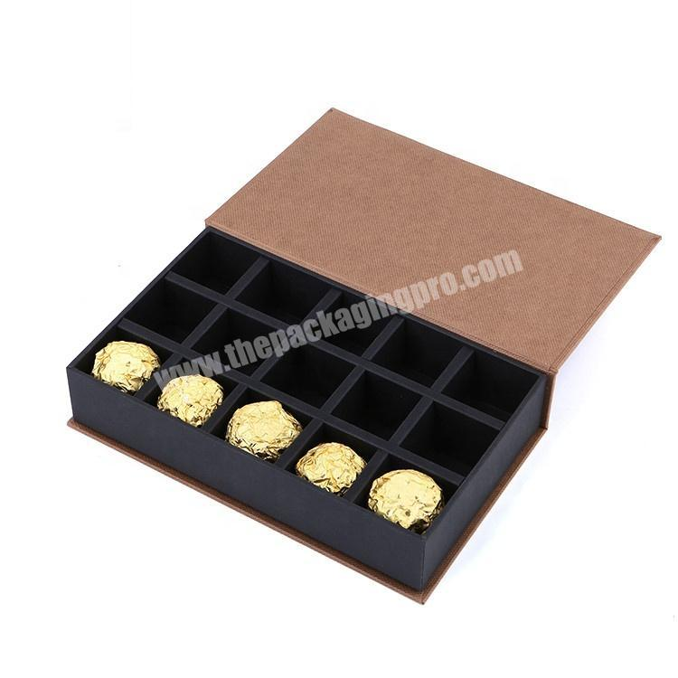 Custom Cardboard Paper Gift Candy Sweet Chocolate Packaging Box With Compartments