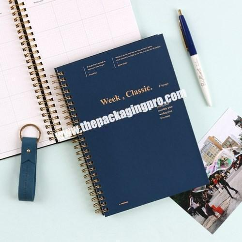 Custom Cheap A4 A5 Pocket Paper PVC PP Transparent Cover Lined Notebook With Wire-O Double Spiral Ring For School Student Office
