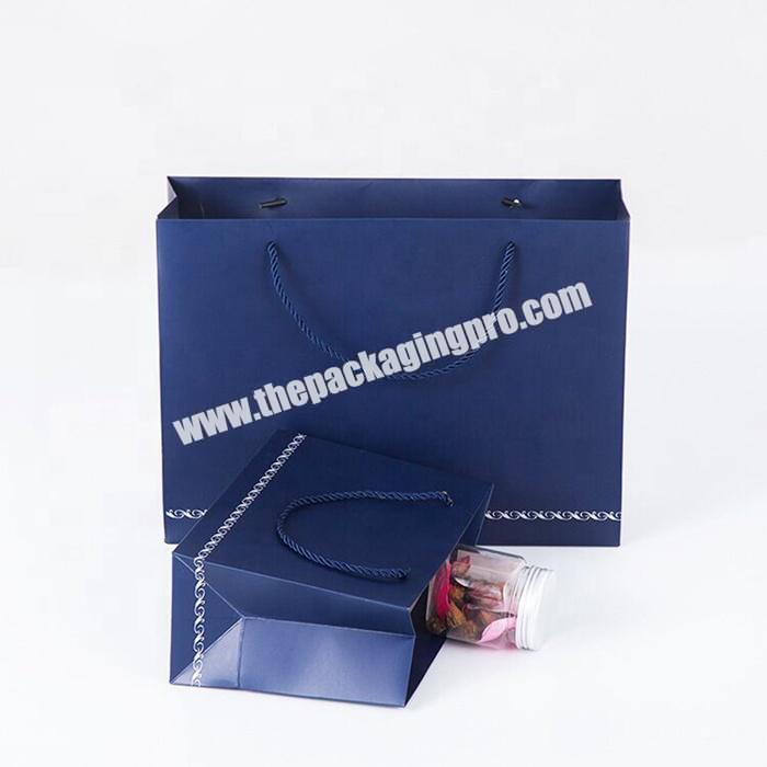 Custom color printed paper shopping bag with different types handle