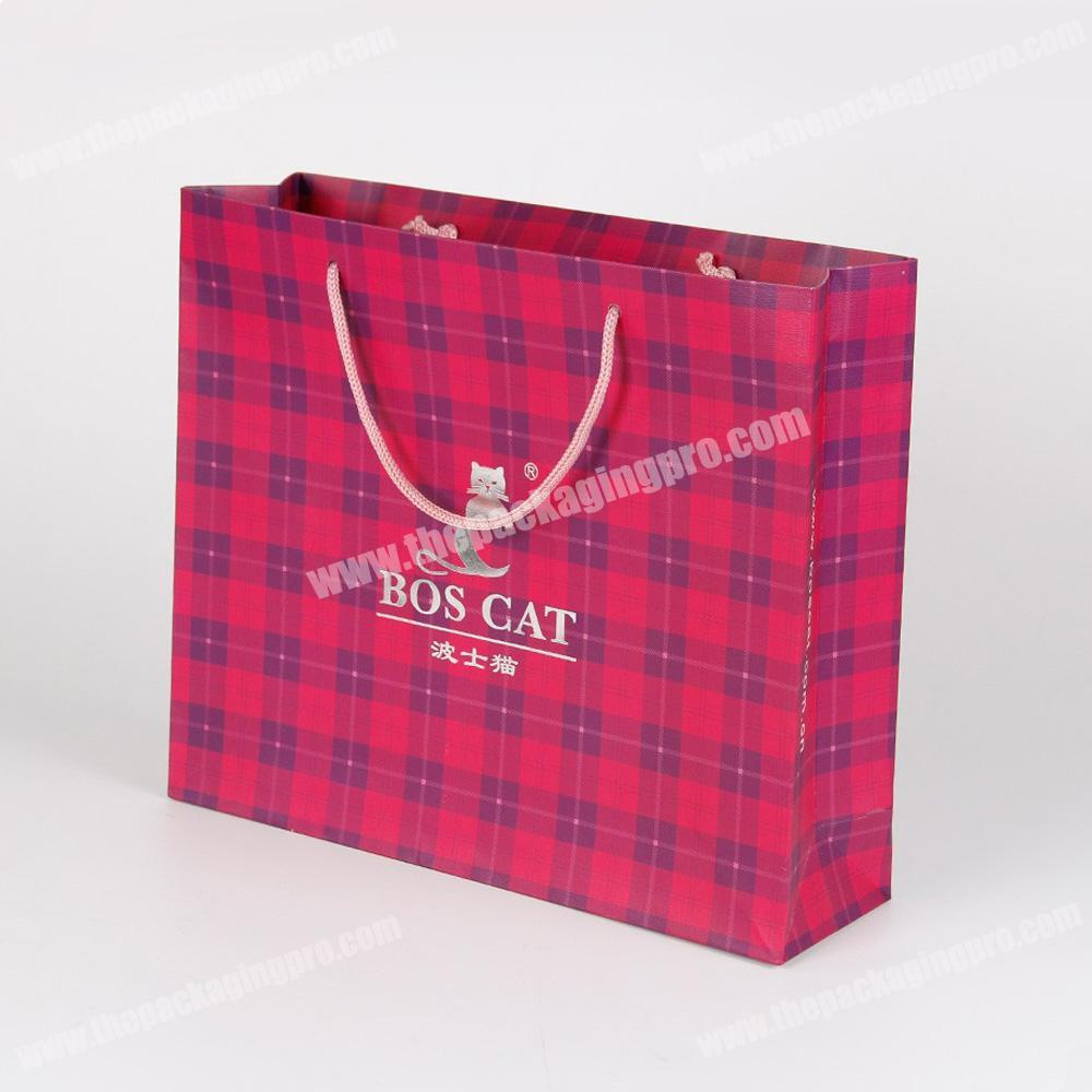 custom coloured shopping paper bags with handles